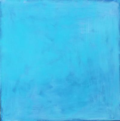 Blau - Acryl auf Leinwand 40x40 - Malerei Carola Malter