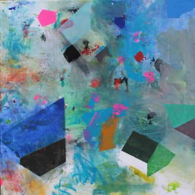 Explosion - Acryl auf Leinwand 40x40 - Malerei Carola Malter