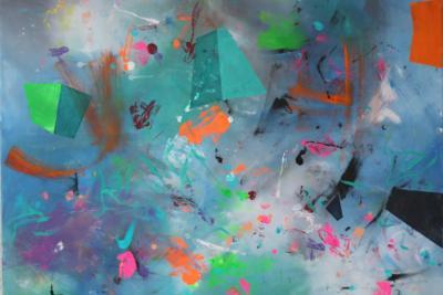 Implosion  - Acryl auf Leinwand 100x80 - Malerei Carola Malter