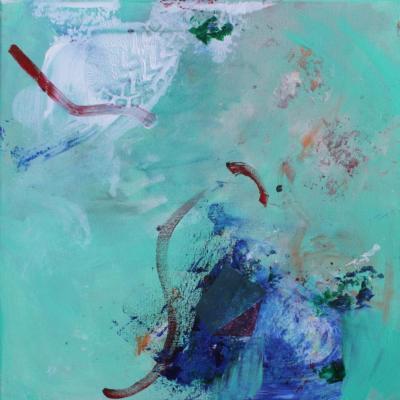 Ohne Titel - Acryl auf Leinwand 40x40 - Malerei Carola Malter