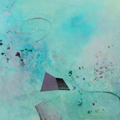 ohne Titel - acryl auf Leinwand40x40 - Malerei Carola Malter