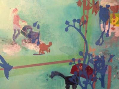 Über den Wolken - Acryl auf Leinwand 80x60 - Malerei Carola Malter
