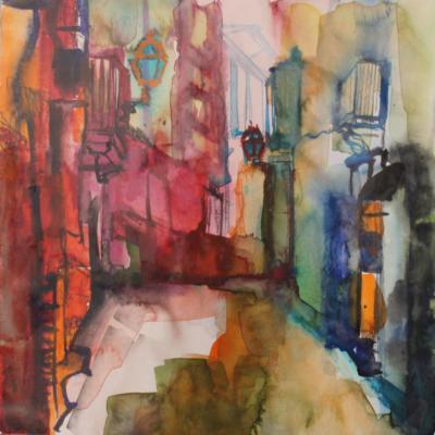 Palma 4 - Aquarell 30x30 - Malerei Carola Malter