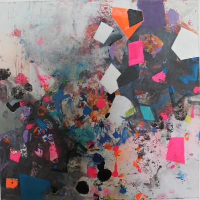 es knallt - Acryl auf Leinwand 40x40 - Malerei Carola Malter