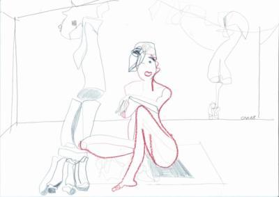 allone- Zeichnung Carola Malter